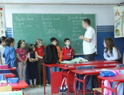 Srbija. Dobrodelne delavnice na šolah v Srbiji.